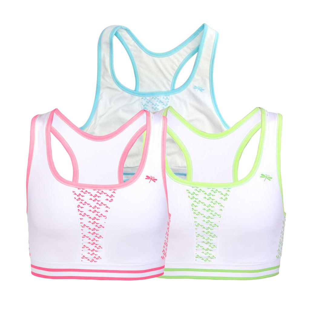 Three Pack The Racer Seamless Sports Bra Bundle - Dragonwing girlgear