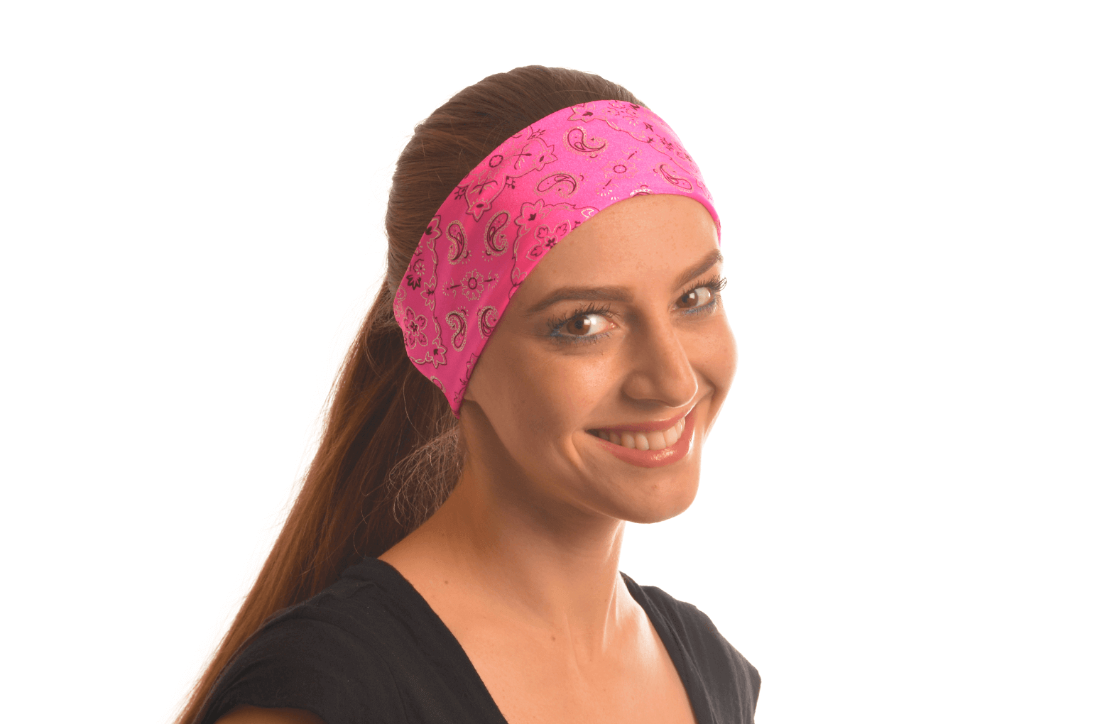 Pink Bandana On Head