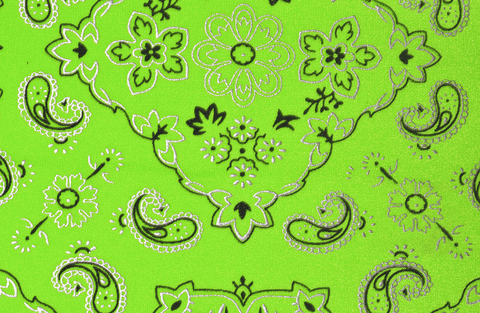 Lime Green Bandana Headband