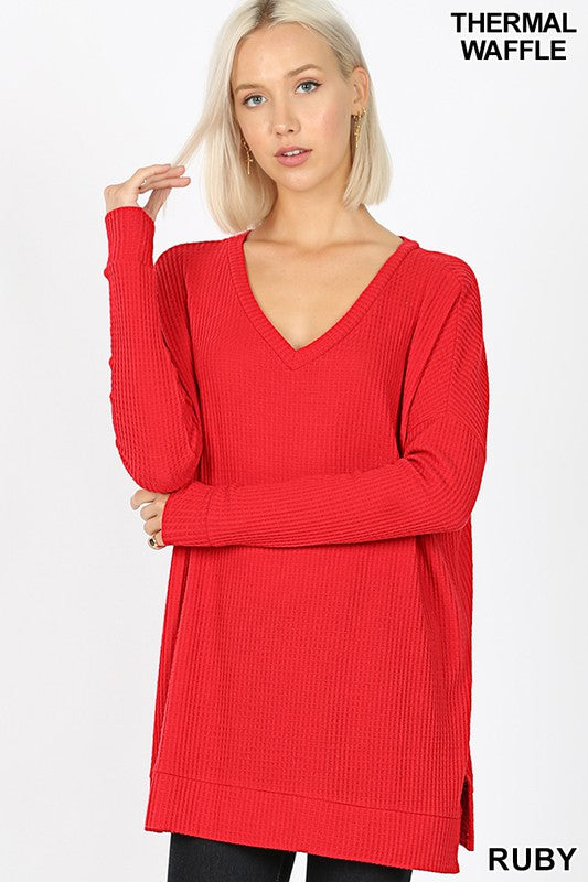 Brushed Thermal Waffle Long Sleeve
