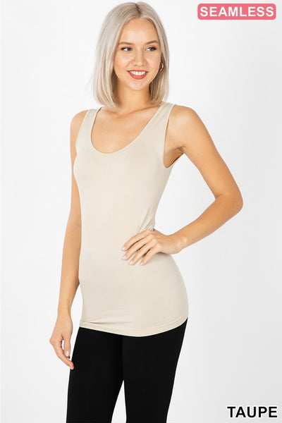 Seamless Scoop Neck Tank