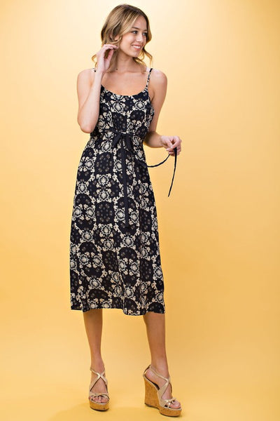 Ornate Print Dress