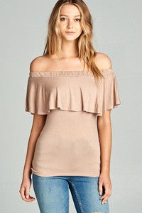 Off the Shoulder Sleeve Tie Top