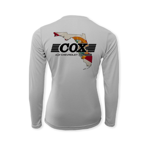 Cox Performance Flag Ladies Long Sleeve T-Shirt