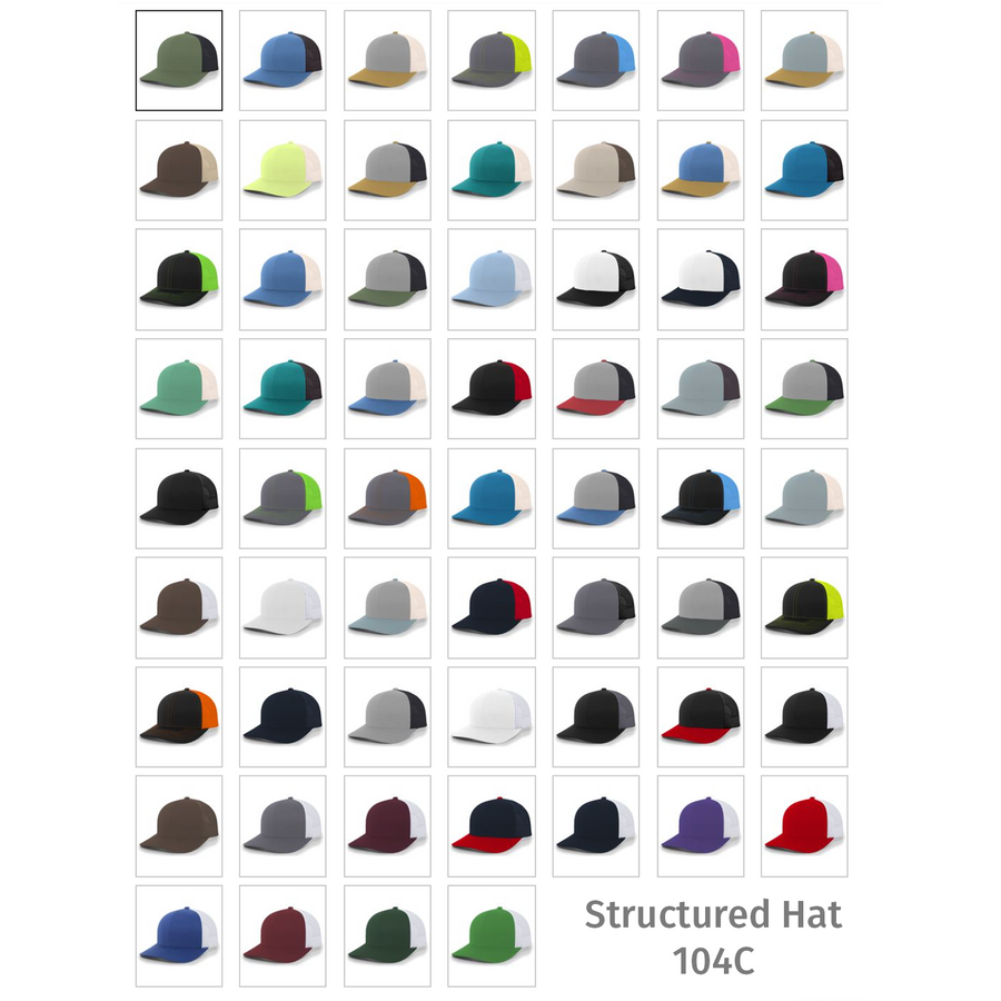 12pk Embroidered Hats