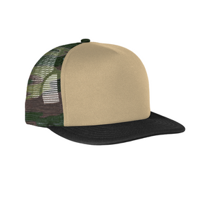 Embroidered Foam Flat Bill Snapback Cap