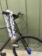 LHQ Bicycle Chain Lock SnowCamo NYC
