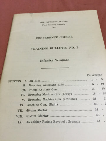Conference Course Training Bulletin No2