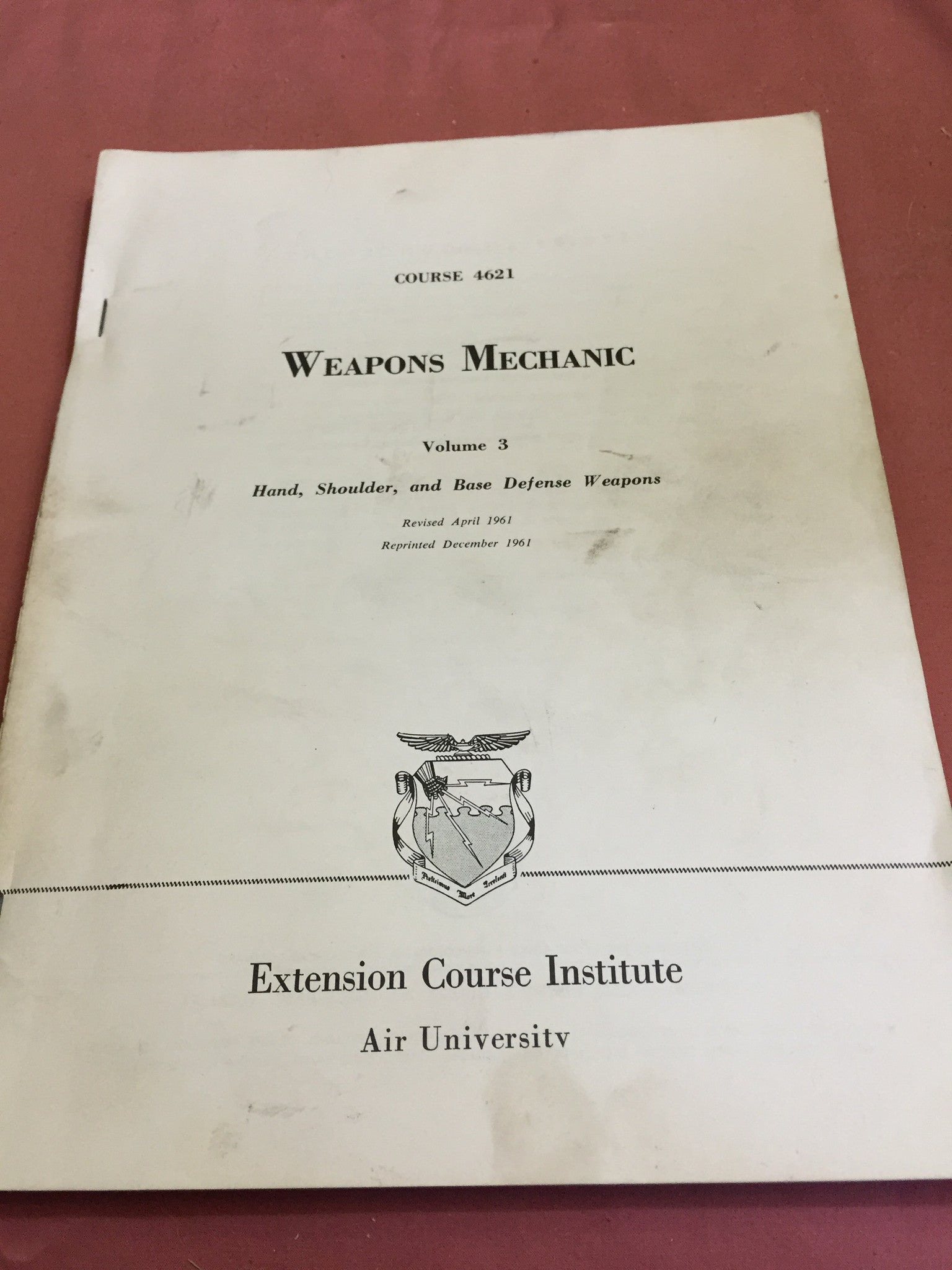 USAF Weapons Mechanic manual
