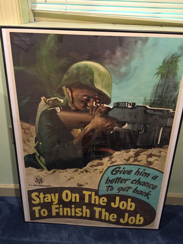 Stay on the job poster