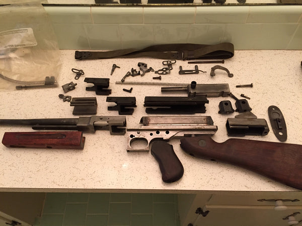 M1a1 Thompson TSMG parts kit and demilled receiver
