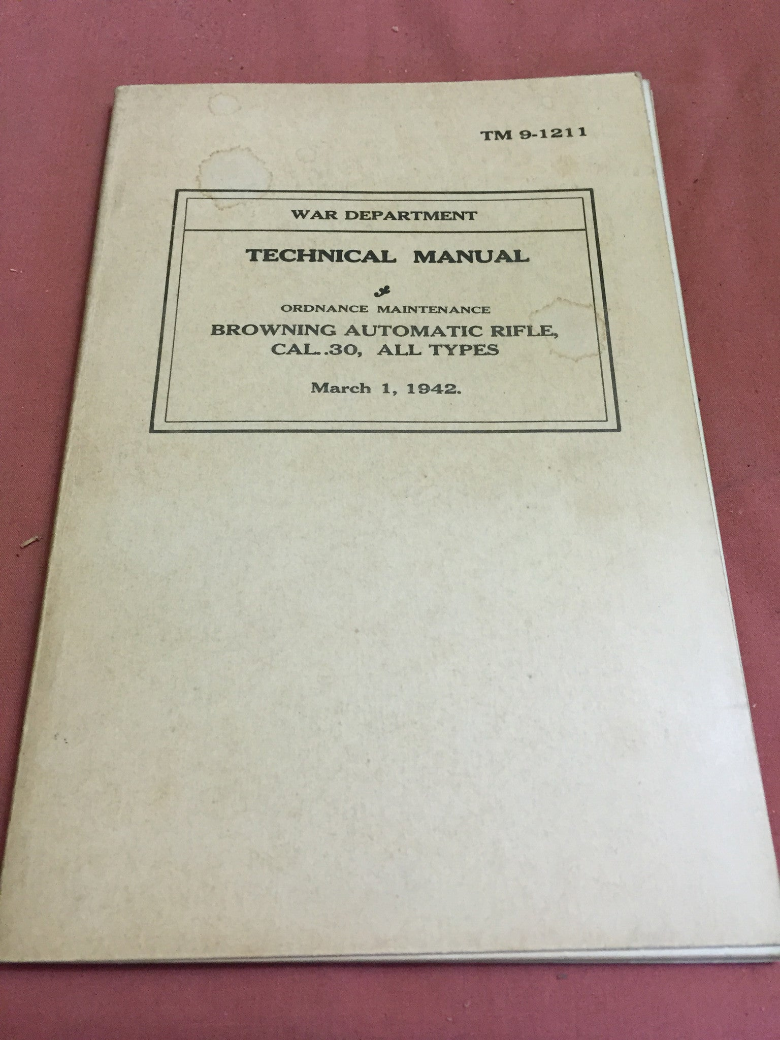 TM 9-1211 Ordnance Maintenance Techincal Manual