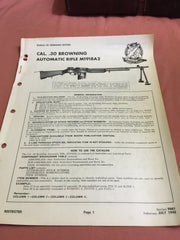 Bureau of Ordnance Section Cal .30 Automatic Rifle M1918a2