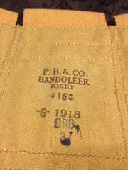 WWI Bandoleer right side