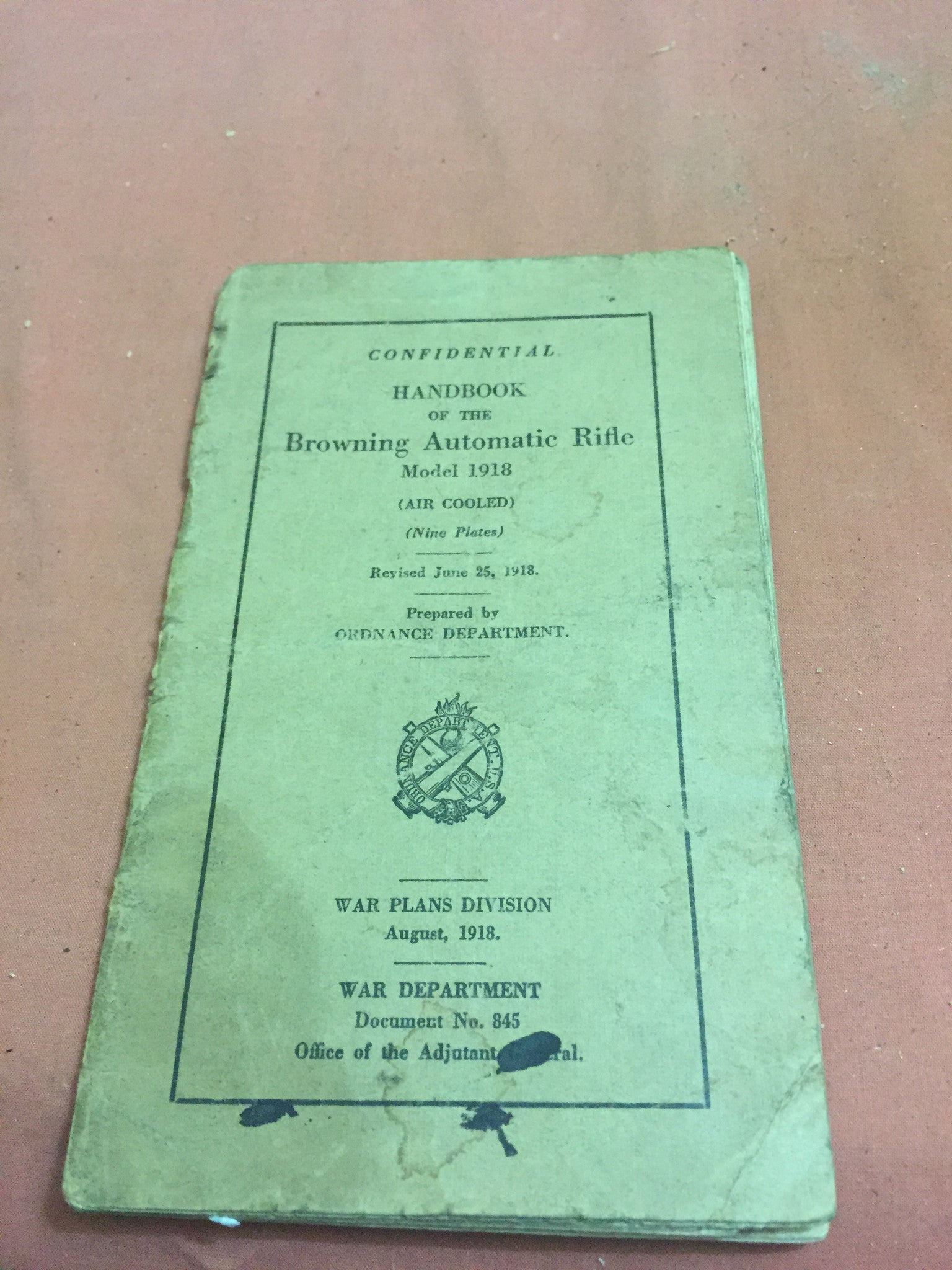 Handbook of the Browning Automatic Rifle June 25 1918