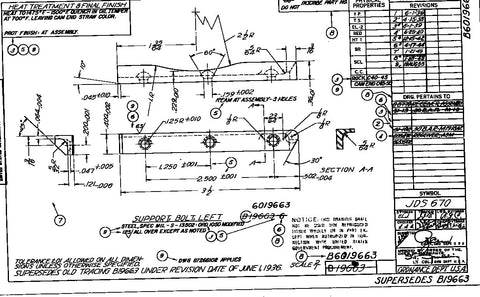 Blueprints M1918a2 Bolt Guide, rivet and top cover