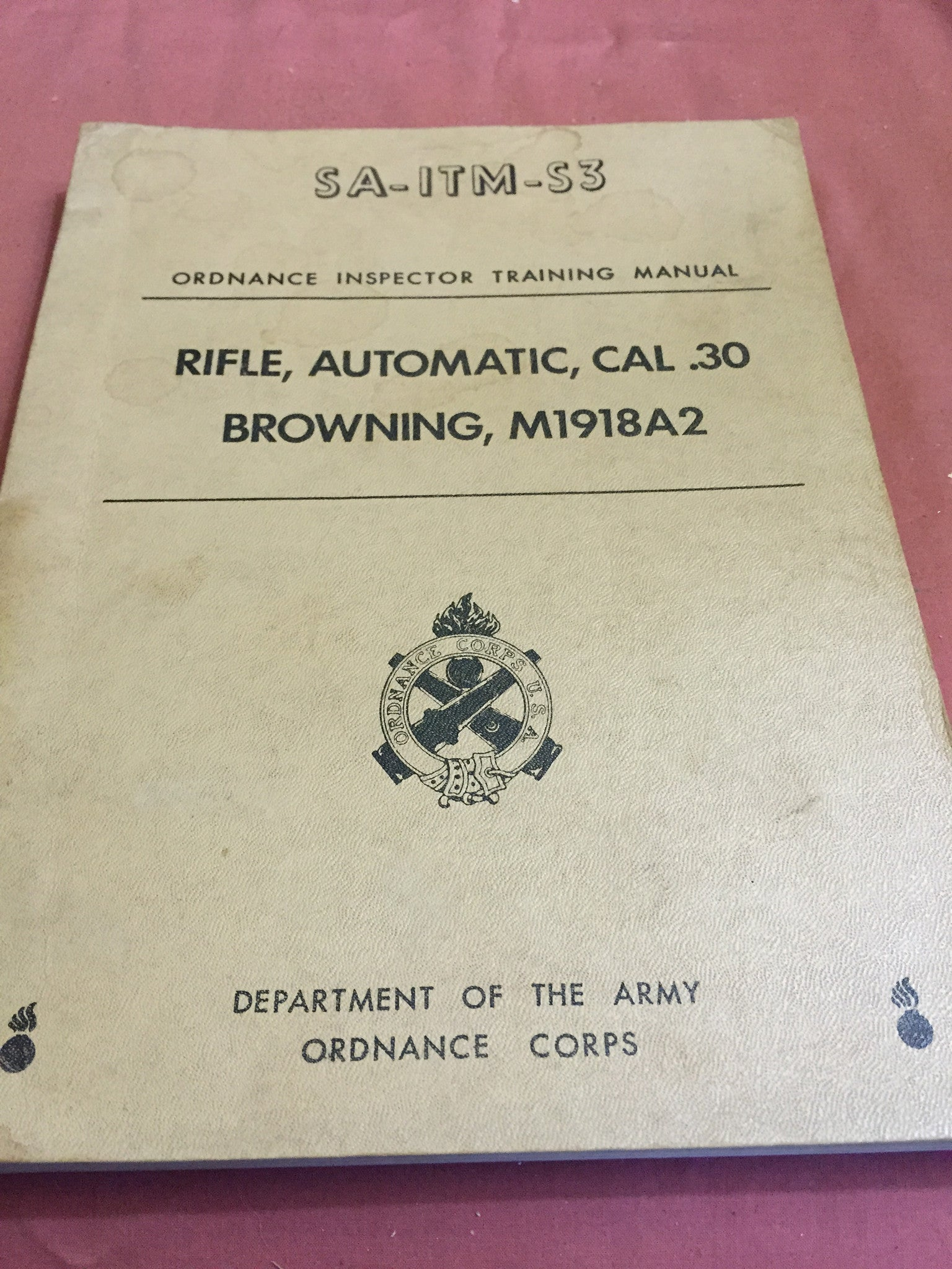 Ordnance Inspectors Training Manual
