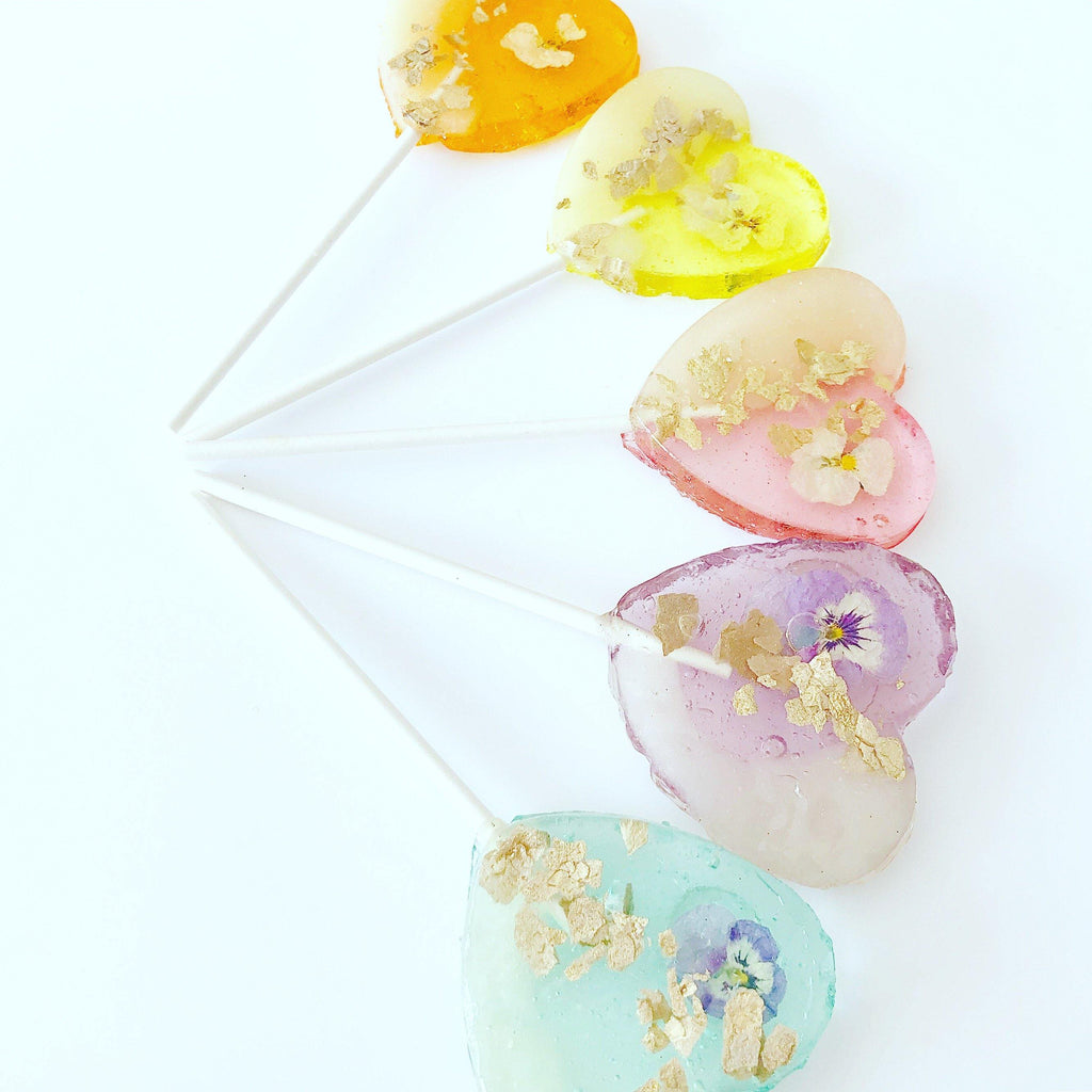 Rainbow Two Tone Heart lollipops