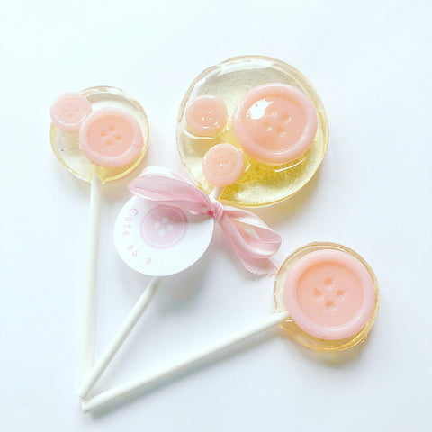 Cute As A Button Lollipops
