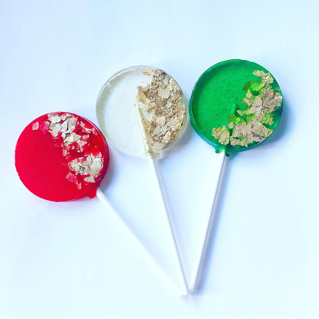 Festive Gold Lollipops