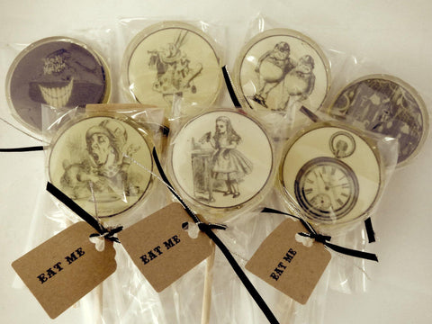 Alice in wonderland lollipops - Mini