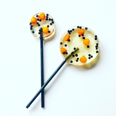 Pumpkin Sprinkle Lollipops