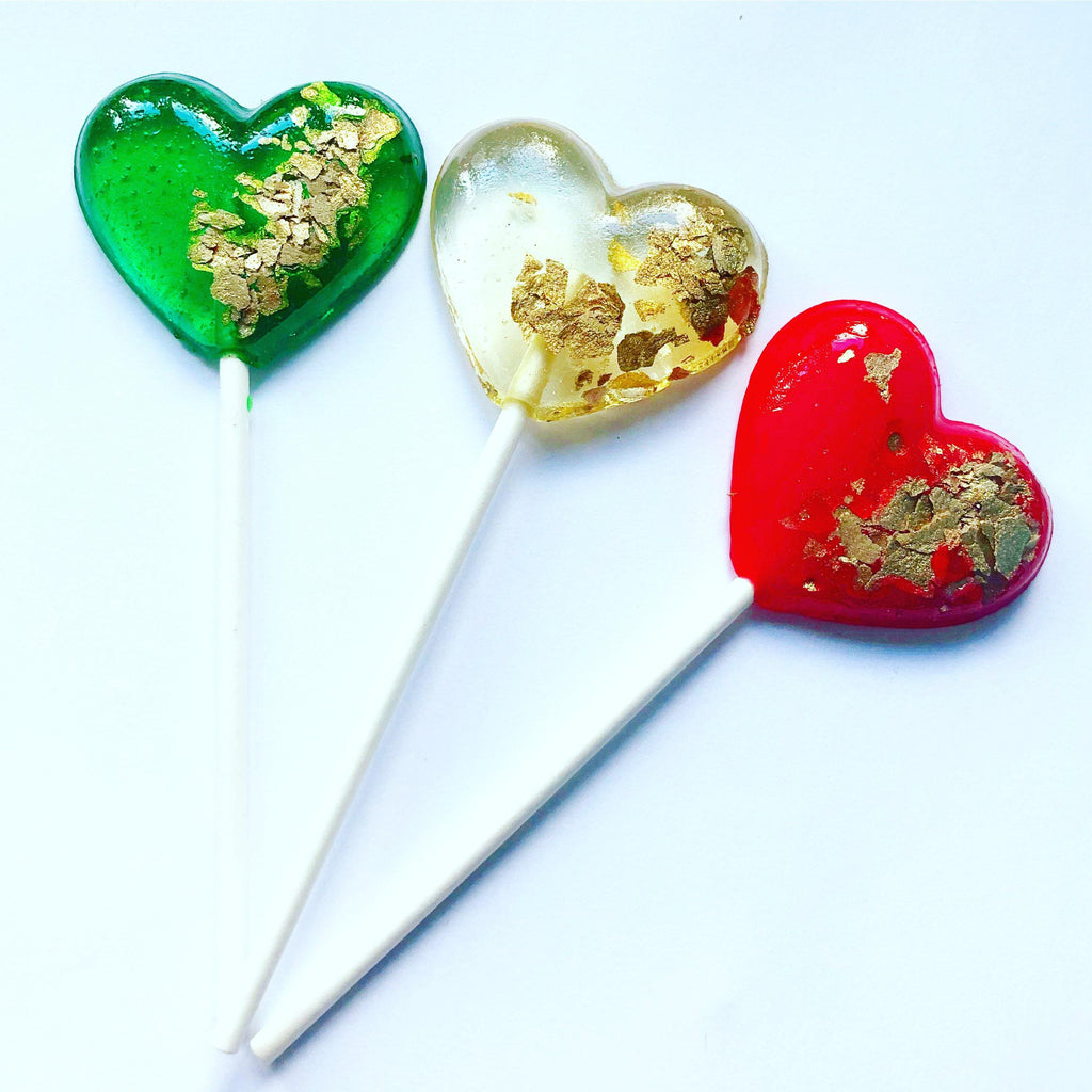 Christmas Heart Lollipops