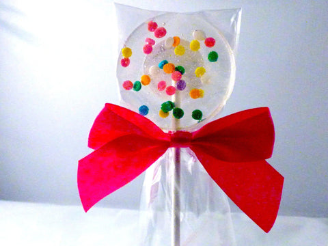 Bright confetti lollipop