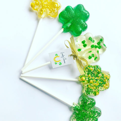 St Patricks Day Lucky Charm lollipops