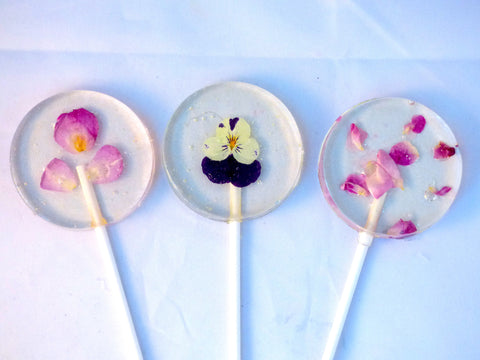 Fresh Edible Flower Lollipop