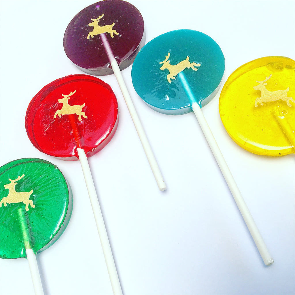 Gold Reindeer Lollipop