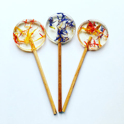 Dried Flower Petal Lollipops