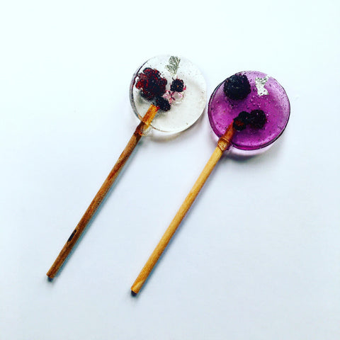 Autumn Berry lollipops