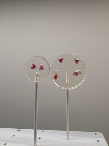 Tri Coloured Hearts Lollipop