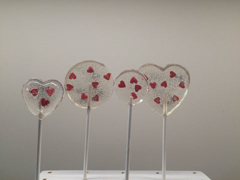 Red Hearts And Silver Lollipop