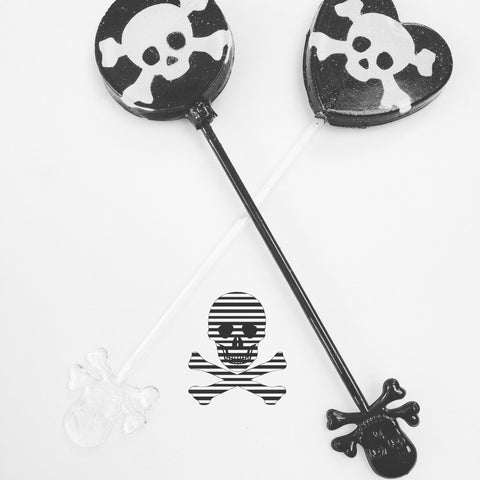 Skull and cross bones lollipop