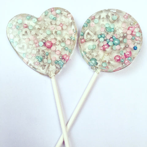 Pastel Love Sprinkle Lollipops