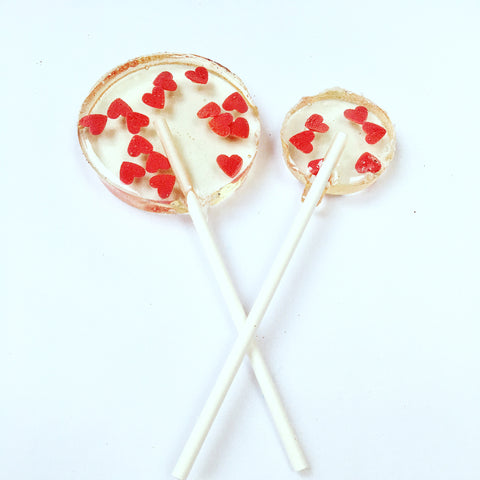 Red Heart Sprinkle Lollipops