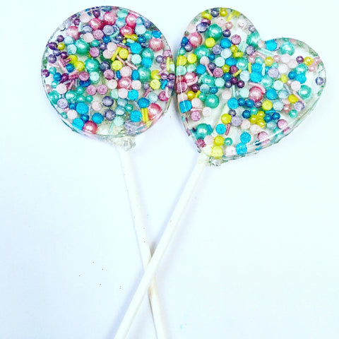 Bright Sprinkle Lollipops