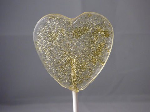 gold glitter lollipops