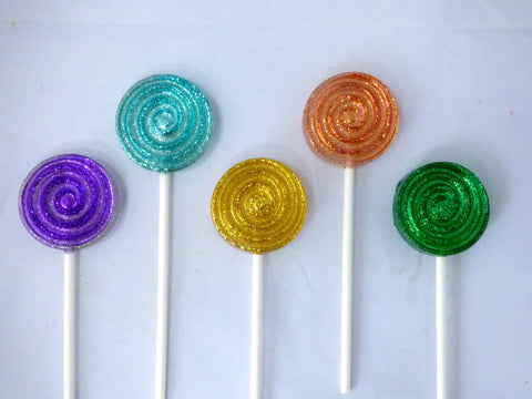 Mini swirly lollipops