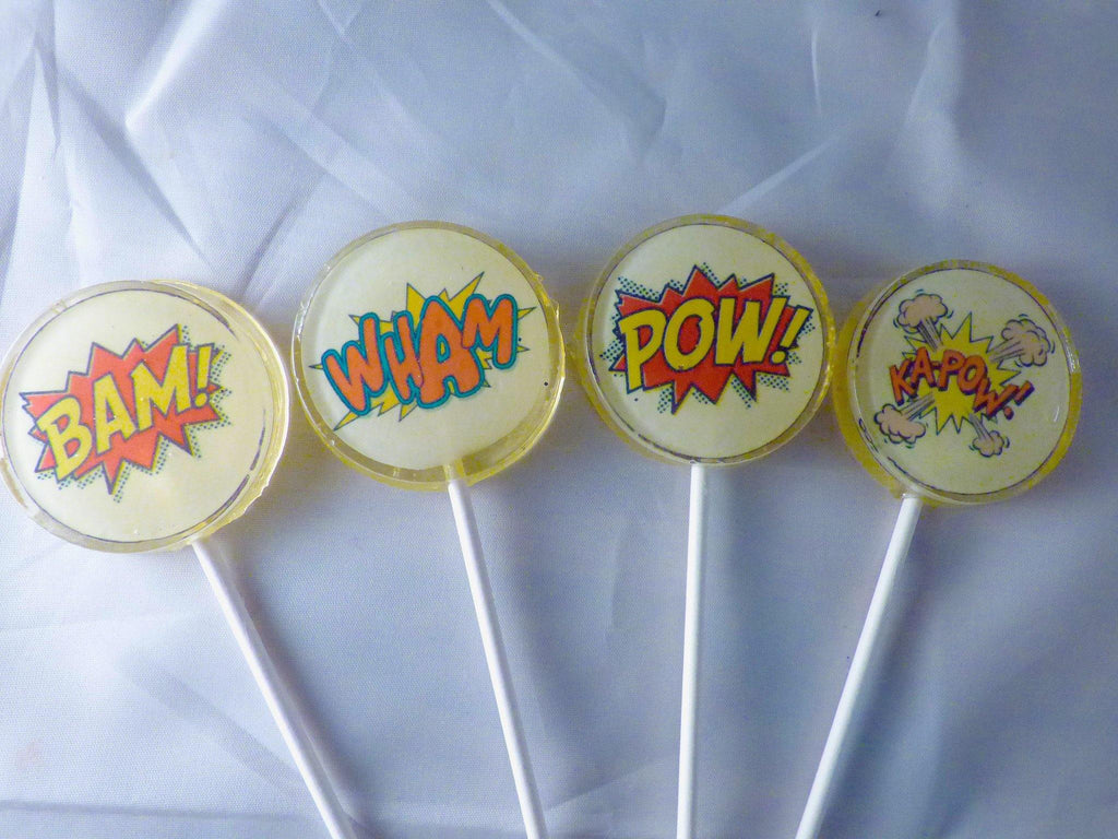 Comic book lollipops- standard