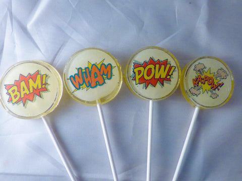 Comic book lollipops- mini