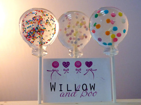 Confetti Balloon Lollipops
