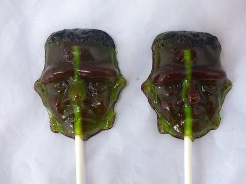 Frankenstein Halloween shaped lollipop