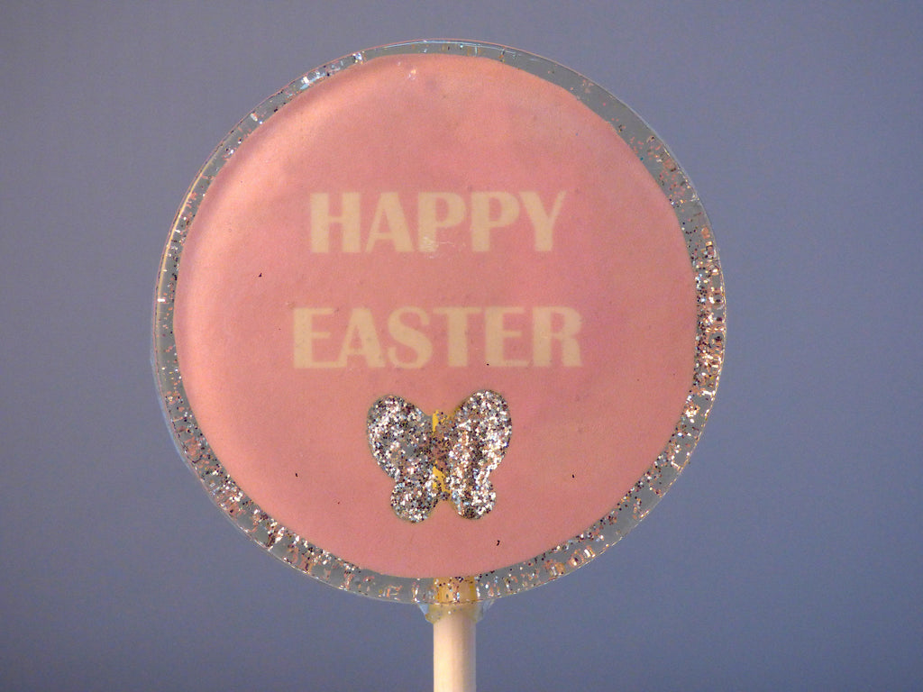 Happy Easter Lollipop pink