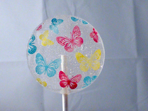 butterfly printed lollipop