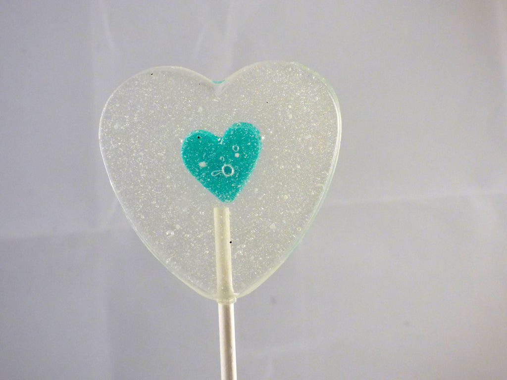 Heart In A Heart - Teal