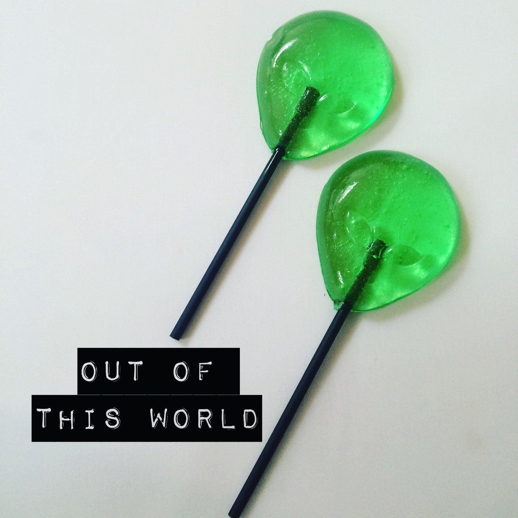 Alien shaped lollipop