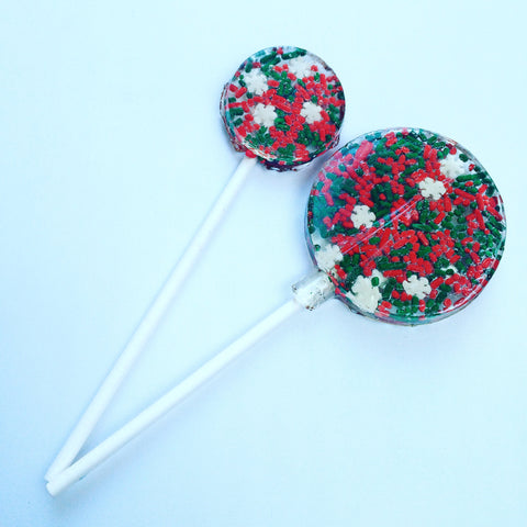 Festive Sprinkle Lollipops